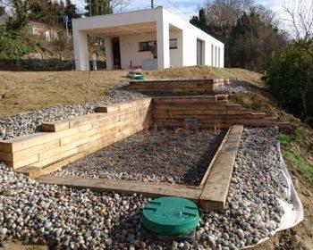 Jardin d'Assainissement Aquatiris chantier 2