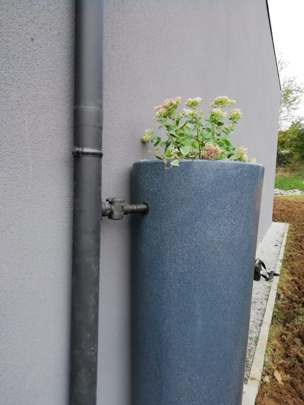 Option récupération d'eau de pluie