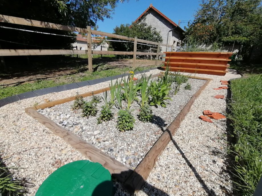 Jardin d'Assainissement bois