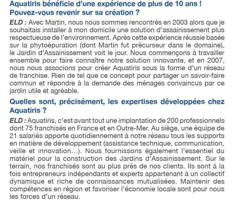 Aquatiris magazine Capital 2